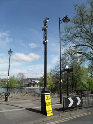 Town Centre Public Space CCTV Column and Cameras
